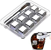 Stainless Steel Ice Cubes Reusable, 8 piece