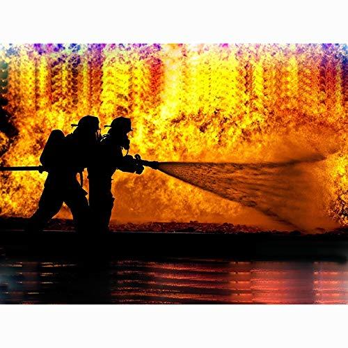 Puzzle 1000 piezas Pintura de arte Héroe de lucha contra incendios Imagen de bombero en Juguetes y juegos Gran ocio vacacional, juegos interactivos familiares Rompecabezas edu50x75cm(20x30inch)