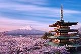 Puzzles, rompecabezas de madera 300/500/1000 piezas, hermoso Monte Fuji adultos de Tower regalo creativo de descompresión Rompecabezas de dibujos animados juguetes educativos for los regalos de Navida