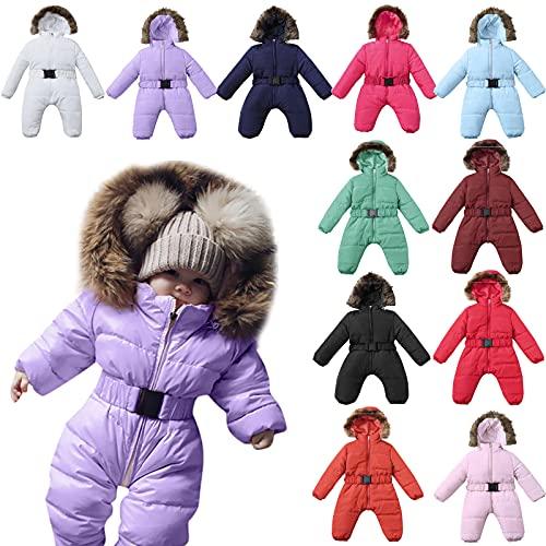YQSR - Traje de nieve para beb o nia, con capucha y capucha, para nio, nia, abrigos y cazadoras, con capucha clida