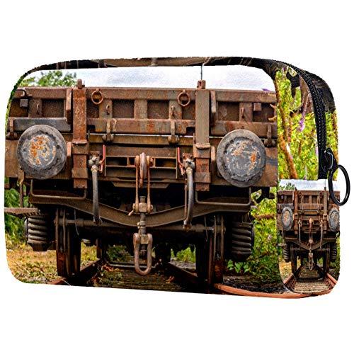 Neceser de viaje, bolsa de viaje impermeable de alta calidad con cremallera mejorada, transporte de vagones viejos