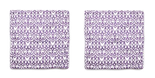 Homevibes Cojín para Silla, Juego de 2 Cojines de 40 x 40 x 9 cm de 100% Algodon para Interior y Exterior, Cojin Cuadrado para Suelo (Diseño 1)