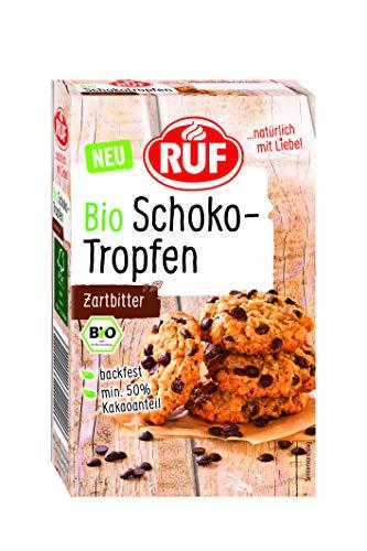 RUF Bio Schoko Tropfen Zartbitter, mind. 50% Kakaogehalt, vegan, glutenfrei, 100 g