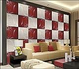 Abihua Papier Peint 3D Personnalisé Photo Murale Salon Rouge Et...