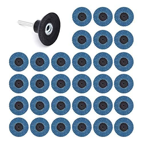 Yuhtech 31 Pcs Fächerscheiben 2 Zoll 50 mm 40 Grit 60 Grit 80 Grit Schleifscheiben Grinder Scheiben Schleifscheiben