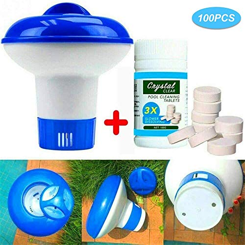 liyuhang 100PCS Pool Cleaning Tablets,Dispensador Cloro Fl