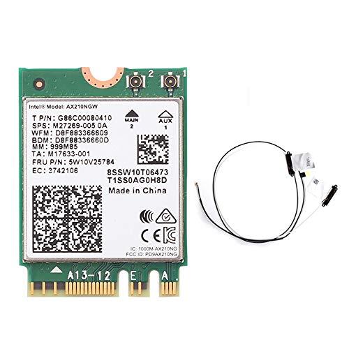 WiFi 6 Intel AX210 Bluetooth 5.2 3000Mbps Inalámbrico M.2 Tarjeta Intel WiFi...