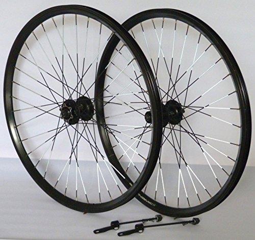 Vuelta 26 Zoll Fahrrad Laufradsatz Dynamic 4 Hohlkammerfelge schwarz Shimano Deore 525 schwarz NIRO schwarz Reflex