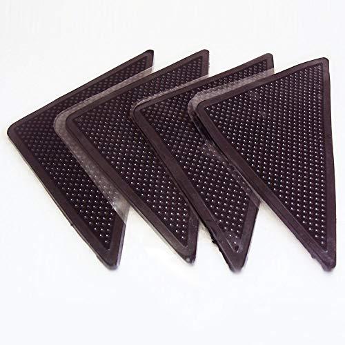 LR Supplies Anti-Rutsch-Matte, Gummi-Teppich-Ecken, rutschfest, wiederverwendbar, 4 Stück