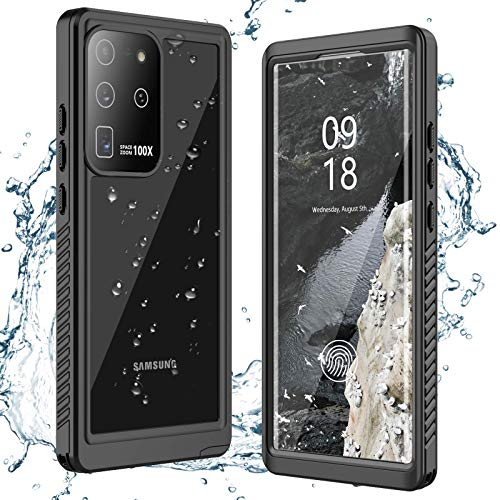 ANTSHARE for Samsung Galaxy S20 Ultra Case Waterproof, Built in Screen Protector 360° Full Body Heavy Duty Protective Shockproof IP68 Underwater Case for Samsung Galaxy S20 Ultra 6.9inch