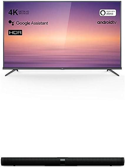 TCL 75EP660 Televisor 190 cm (75 Pulgadas) Smart TV + Barra de Sonido TCL TS7000 (92 cm) para TV: Amazon.es: Electrónica