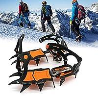 さまざまなアウトドアスポーツシューズやブーツで使用されるハイキング用12歯アイスハイキングスパイクアイゼンストラップバインディングタイプ耐氷クリート