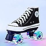 Longxs Rollerskates, Eisbahn professionelle Coole LED blinkende Rollschuhe Zweireihige Rollschuhe Erwachsenensport für Mädchen und Jungen-37