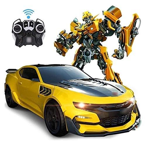 YYQIANG Transformer Autobots RC Toy Children's Electric Control Electric Deformation Robot Truck 360 ° Rotating Drifting ABS STUNT Coche Motor Realista Sonido y Luz para Niños Boys Girls Regalo de cum