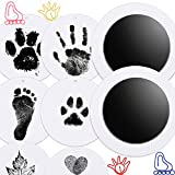 Nabance Inkless Baby Footprint and Handprint with 2PCS Clean Touch Ink Pads and 6PCS Imprint Cards, Pet Paw Print Kit Paw Stamp Pad for Dogs, Baby Hand Foot Stamp Kit Newborn Baby Infant Handprint Ink