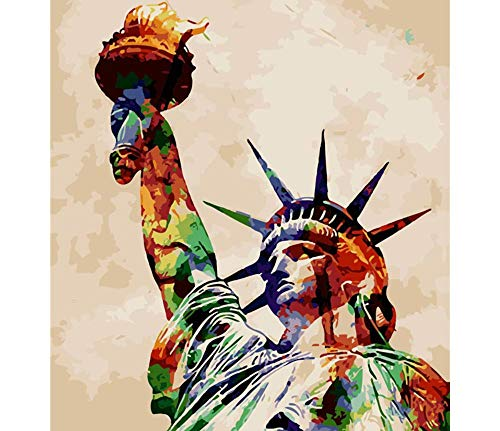 Q&K Wooden Puzzles 1000 Piece for Kids Statue Liberty Abstract Adult Puzzle Toys Best Gift for Children No Glue Required