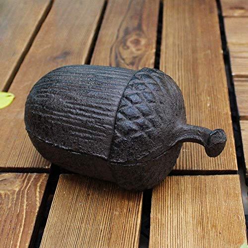 erddcbb Tortuga de Hierro Fundido Hogar Jardín Decoración Caja de Llaves Caja de Seguridad Cenicero de Navidad Regalo, Piña