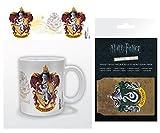 HARRY POTTER 1art1, Stemma De Grifondoro Tazza da caffè Mug (9x8 cm) E 1, Porta Carte di Credito (10x7 cm)