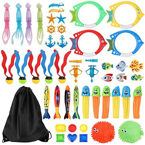 Minterest Pool Spielzeug für Kinder 50 Stücke, Spielzeug zum Tauchen von Banditis,unter Wasser, Spielzeug, Sommergeschenke für Kinder, Jungen und Mädchen