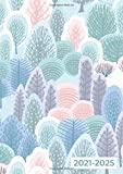 2021-2025 A4 Five Year Diary | In The Pastel Forest: UK Month to View Planner with UK Holidays / Moon Phases, Tabs, Birthdays (Personal Planners and Organisers, Calendars, Agendas)