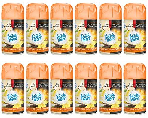12x Fresh&More Nachfüller Birne-Keks&Vanille Passend Für Duftspender, 250ml