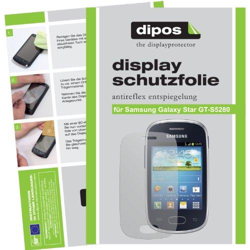 dipos I 2X Schutzfolie matt kompatibel mit Samsung Galaxy Star S5280 Folie Displayschutzfolie