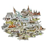 Beyong [42PCS] Scenic Stickers World Architecture Decals, for Laptop, Phone, Pad, Planner, Scrapbook, Journal