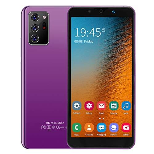Smartphone Sbloccato 3G | Note30 Plus Android 8.1 Smartphone Economici in Offerta | Schermo Full HD da 5,72 Pollici | 512MB RAM + 4GB ROM | 128GB Espandibili | Face ID, Dual SIM, GPS, WIFI(Viola)
