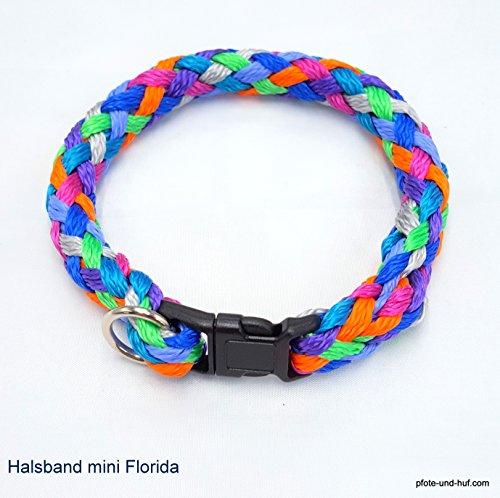 elropet Hundehalsband Mini für die Kleinen rundgeflochten Tauwerk Florida (27cm) Halsband kleine Hunde