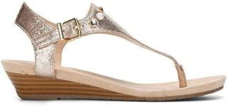 rose gold studded flat sandals
