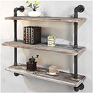 Retro Style Wall Shelves Rustic Floating Shelves Wall Mounted Storage Shelves for Bedroom Living Room Kitchen Bathroom