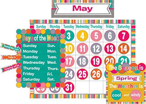 Teacher Created Resources (2685) Tropical Punch Calendar Bulletin Board