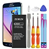 Galaxy S6 Battery ZURUN 2900mAh Li-Polymer Battery EB-BG920ABE Replacement for Samsung Galaxy S6 G920V G920A G920T G920P with Screwdriver Tool Kit | S6 Battery Replacement Kit [2 Year Warranty]