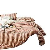 No-branded Sygjal Desnuda algodón nórdico Simple de Cama de algodón de Punto Jacquard de Cuatro Piezas Dormir Pata de Gallo Scorpio algodón del lecho (Color : Rojo, Size : 2.0m)