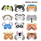 ZF2194500 12 UNIDS/Set Divertido EVA Niños de Dibujos Animados Máscaras de Animales Viste Disfraz Zoo Jungle Party Supplies para Niños (Patrón Aleatorio)