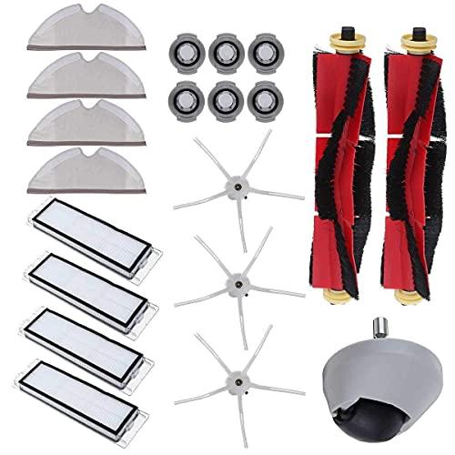 Inicio Limpieza 20 unids rueda limpia filtro HEPA principal cepillo Accesorios para xiaomi fit para roborock S6 S60 S65 S5 MAX T6 Aspiradora Home Applicance filtro piezas de repuesto