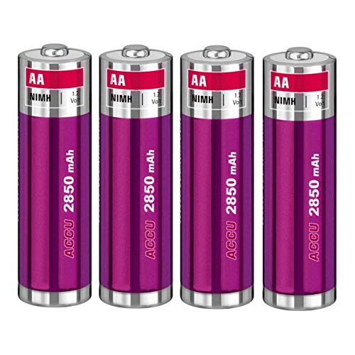 Akku kompatibel mit Pentax K100D, K110D, K200D, K-x, ist D DL DL2 DS - NI-MH 2700mAh 1.2V - 4er Pack