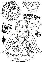 女の子のクリアスタンプまたはDIYスクラップブッキング/カード作成/キッズ楽しい装飾用品のスタンプA617