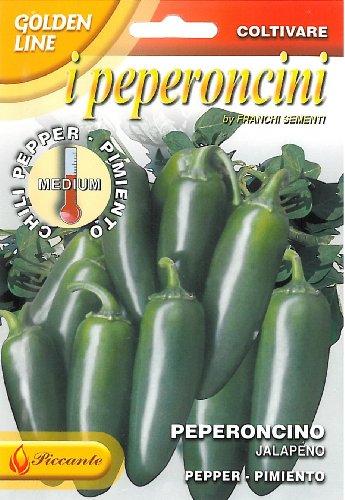 SEMI DI PEPERONCINO JALAPENO - FrANCHI SEMENTI -SEMENTI SELEZIONATE GLPE 97/118 BUSTINA GR 1
