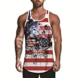 Men's Tank Top,3D Printed Funny Pokemon Graphic Summer Sleeveless Workout Undershirt Breathable Casual for Mens Cool Tank Tops Beach T-Shirt Sport Muscle Stringer Bodybuilding Gym Vest