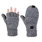 Vbiger Winter Handschuhe Fingerlose Fäustlinge Damen Fingerhandschuhe Fingerlos Halb Handschuhe
