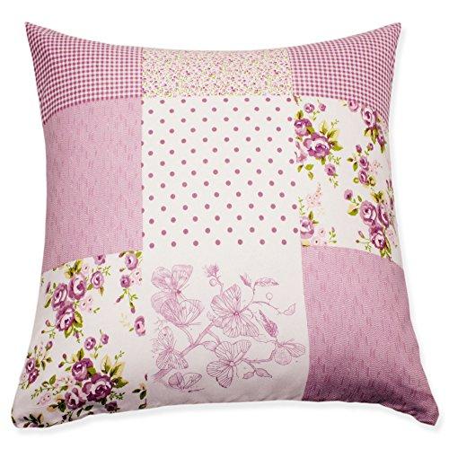 Huis en decoratieve kussensloop patchwork bloemen lila druk kussensloop decoratief kussen sierkussen #1661