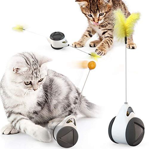 猫のおもちゃネコ おもちゃ自動 タンブラー 玩具車 猫のおもちゃ ペット 羽 自動回転 猫じゃらし ストレス解消 ねこのおもちゃ 運動不足対策 知育玩具