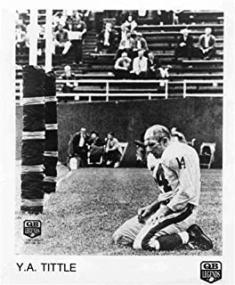 Y.A. TITTLE NEW YORK GIANTS 8X10 SPORTS ACTION BLOOD PHOTO