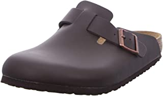 Birkenstock Boston Smooth Leather Wide, Zuecos Hombre