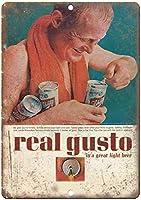 Schlitz Real Gusto Pop Top Breweriana ティンサイン ポスター ン サイン プレート ブリキ看板 ホーム バーために