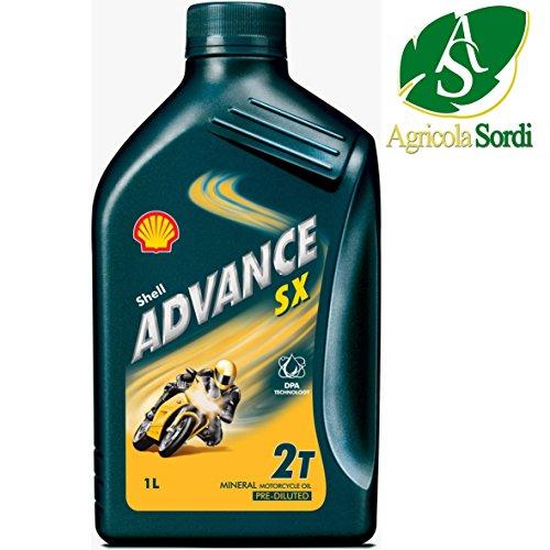 Shell - ADVANCESX2_11298 - Bidon 1 litre d'huile minérale 2 temps 550020113 - Huile spécialement conçue pour les motos.