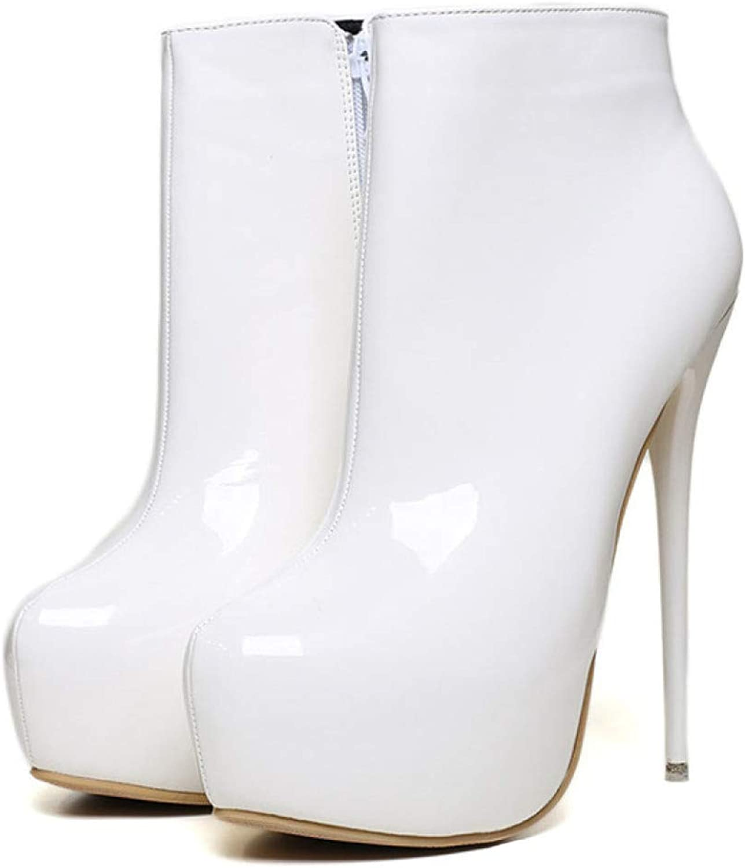 QVRGE Weibliche Stiefel Stiefeletten High Heels Mode Schuhe High-End-Schuhe