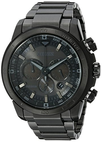 Citizen Men's Eco-Drive Chronograph Stainless Steel Watch with Date, CA4184-81E