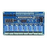 Módulo de relé rígido, 8-36 V, 8 Canales, módulo de Placa de Interfaz de relé de retardo de Tiempo multifunción, optoacoplador LED